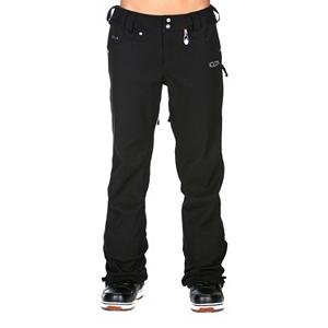 Snowboard Volcom Species Stretch Womens Snowboard Pants - The classic pant style of the Volcom Battle Stretch Womens Snowboard Pants is just the beginning. Its style alone lets you get away with wearing it just about anywhere. From the backyard to the mountain, these snowboard pants are the perfect way to stay warm and dry in snow season. It offers everything you would need in a snowboard pant. Zip Tech makes it so you can zip into the jacket so you don't have the wet and cold snow freezing you up as it seeps under your clothing. The skinny design and chic style of the Volcom Battle Stretch Snowboard Pants will make the heads turn, the features will keep you focused on the task at hand. Features: Adjustable Inner Waistband. Exterior Material: V-Science Stretch Twill, Softshell: No, Insulation Weight: N/A, Taped Seams: Critically Taped, Waterproof Rating: 15,000mm, Breathability Rating: 15,000g, Full Zip Sides: No, Thigh Zip Venting: Yes, Suspenders: None, Articulated Knee: No, Low Rise: Yes, Warranty: One Year, Race: No, Waterproof: Moderately Waterproof (5000mm-19,999mm), Breathability: High Breathability (9000g-15,000g), Use: Snowboard, Type: Stretch, Cut: Slim, Lining Material: V-Science Breathable Lining System, Waist: Adjustable, Pockets: 3-4, Model Year: 2013, Product ID: 290625 - $99.95