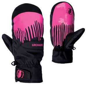Snowboard Grenade Dripper Womens Mittens - The Womens Dripper Mitt from Grenade is going to keep you protected from malicious winter attacks. Mitten over a glove is going to provide an increase in hand temperature since your fingers are together, rather than separated like a glove. Endless tow rope laps mean nothing to the Dripper Mitt with Lorics Suede Palm, is going to be durable and long lasting. Durable Nylon exterior matched with Primaloft insulation is going to keep your hands warm all day long, while moisture wicking treatment of the Dripper help keep you dry. Hipora breathability allows for your hands to regulate temperature. Waterproof inserts keeps your hands dry from mother natures snow storms. The Womens Dripper Mitt is going to a womens best friend. . Removable Liner: No, Material: Primaloft Insulation, Warranty: One Year, Battery Heated: No, Race: No, Type: Mitten, Use: Ski/Snowboard, Wristguards: No, Outer Material: Nylon, Waterproof: Yes, Breathable: Yes, Pipe Glove: No, Cuff Style: Under the cuff, Down Filled: No, Touch Screen Capable: No, Model Year: 2013, Product ID: 292029 - $59.99