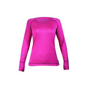 Snowboard Hot Chillys Geo Pro L/S Womens Long Underwear Top - The Hot Chillys Geo Pro Long Underwear Crewneck for women is great for all your outdoor needs as well as a perfect choice for your casual lifestyle. The interlocked construction of MTF polyester yarns help pull moisture away from your skin so it is rapidly dispersed and evaporated to keep you feeling warm and comfortable no matter where your adventure begins. The soft touch and impeccable performance in The Geo Pro Base Layer offers a comfortable lived-in feel. Hot Chilly provides you with garments that are made with contrast flat seamed stitching to eliminate binding and abrasion allowing you freedom of movement and complete comfort. . Warranty: One Year, Model Year: 2013, Product ID: 269169, Model Number: HC4952 889 S, GTIN: 0614996224144, Neck: Crew, Type: Top, Weight: Light, Material: Synthetic, Fit: Loose - $34.91