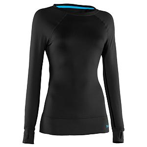 Snowboard Under Armour Base 2.0 Crew Womens Long Underwear Top - The tight fitting, expedition-weight Under Armour Base 2.0 Long-Sleeve Crew T-Shirt provides a super-toasty base layer that's ready to perform in the coldest outdoor adventures. Under Armour's thick Coldgear fabric gives you greater loft than a mid or lightweight base layer to keep you warm for those bone-chilling morning chairlift rides. This crew-neck base layer features ergonomically-placed flat-locked seams and raglan sleeves for maximum range of motion without chafing or binding. The Base 2.0 Crew features the ArmourBlock technology that will keep you smelling fresh no matter how funky things get. Features: ArmourBlock Anti-odor Technology, Quick Drying. Fit: Tight, Warranty: Lifetime, Material: Synthetic, Weight: Mid, Type: Top, Neck: Crew, Model Year: 2013, Product ID: 290202 - $54.95