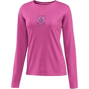Snowboard Life Is Good Crusher Dog Gone Off Road Womens Shirt - Are you looking for relaxed comfort and warmth? The Crusher is made with100% cotton and has a signature softness that you will be sure to enjoy. Life is Good created this with a slight waist shape, ribbing at the neck, and narrower cuff and hem, all to maintain this feminine touch. This is a great shirt to lounge around in or even to layer under your outer gear. . Hood Type: None, Material: 100% Cotton, Fleece Weight: None, Category: Light-Weight, Hood: No, Warranty: Other, Battery Heated: No, Type: Crew/Mock Top, Wind Protection: No, Type: Tees, Material: Cotton, Pockets: None, Wicking Properties: No, Type: Long Sleeve, Water Resistant: No, Model Year: 2013, Product ID: 269544 - $24.91