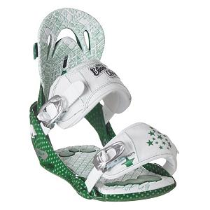 Snowboard Elan Stella Womens Snowboard Bindings - Total rider comfort featuring a female specific design. This comfortable pair of Stella Snowboard Bindings have an APS base plate that is fully adjustable, this feature allows for you to get the perfect fit each time that you put these bindings on. The two piece base plate provides you with the maximum customization for an absolute fit and foot positioning that is custom for you. The CBS base plate is a one piece fiberglass reinforced construction that has unique edge bevels allowing you to get the grip, carving and flex needed every time. Accuracy and board flexing you will experience all day long. The extended high back padding with grip inserts provide enhanced comfort during aggressive heel side turns by eliminating pressure points on your calves, this grip insert will also provide you with a better hold for your boots. Stella delivers fully adjustable precision performance to female riders who want superior technology, a great fit, high performance, quality and accuracy without any kind of sacrifice while out in the powder or on the rails. Features: Dual Top Strap gives the freedom to lengthen and adjust the strap to enhance comfort and fit, Elliptical Straps, ST, Stitch and Turn Strap provides maximum comfort by decreasing strap pressure at the edges of the strap, Skill level 2-4. Recommended Use: Freestyle, Strap Material: Dual density polyurethane, Buckles: Aluminum, Toe Strap Style: Traditional, Warranty: One Year, Skill Range: Intermediate - Advanced, Model Year: 2009, Product ID: 213759, Gender: Womens, Skill Level: Intermediate - $79.95