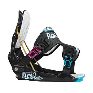 Snowboard Flow Gem Womens Snowboard Bindings - If you're searching for a gem, don't bother with the shovels because Flow has a true Gem for you. Designed for performance, comfort and convenience, the Flow Gem is a sleek and durable package for endless shred-fun. Nothing could be easier than kicking into the slightly wider baseplate, having the UniFit PowerStrap cradle your boot and locking up the reclining hiback with a single handed swoop of the Snaplock, to get yourself underway for yet another adventure. The UniBack ventilated hiback is responsive, but comfortable for those extended sessions. Tooless forward lean adjustment gives you the option to get gnarly with your heelside. If you're sick of sitting or bending down to strap in and sick of the pressure points of traditional bindings, look into a Flow. Flow bindings offer a super easy entry and exit and the Gem's strap will keep your feet happy. . Snowboard Best Use: All-Mountain, Strap Material: UniFit Powerstraps, Flex: Soft, HighBack: Single Component, Buckles: Aluminum, Toe Strap Style: None, Warranty: One Year, Quick Entry: Yes, Canted Footbed: No, ICS Channel Compatible: No, Traditional Burton (3D) Compatible: Yes, Standard 4 Hole Compatible: Yes, Chassis Material: Plastic, Binding Compatibility: Standard 4 Hole and Burton 3D, Snowboard Binding Padding: Basic, Skill Range: Intermediate - Advanced, Model Year: 2013, Product ID: 280870, Gender: Womens, Skill Level: Intermediate, Model Number: FI12W4GEMMBRT, GTIN: 0845493031199 - $99.95