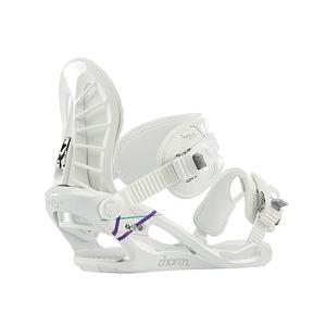 Snowboard K2 Charm Womens Snowboard Bindings - The K2 Charm is the top binding for a lady on a budget. A-Line chassis with the Tool-Less Power Ramp provides a lightweight design with nice smooth Hella RADchets. The Womens comfy Caddi Ankle strap gives outstanding support. The K2 Charm is all the luck a lady needs. . Strap Material: Fully Contoured 3D shaping, Flex: Soft, HighBack: Airlace, Buckles: Hella RADchet, Warranty: One Year, Chassis Material: Composite, Binding Compatibility: Standard 4 Hole and Burton 3D, Skill Range: Beginner - Advanced Intermediate, Model Year: 2013, Product ID: 281734, Shipping Restriction: This item is not available for shipment outside of the United States., Gender: Womens, Skill Level: Beginner, Standard 4 Hole Compatible: Yes, Traditional Burton (3D) Compatible: Yes, ICS Channel Compatible: No, Canted Footbed: No, Quick Entry: No, Toe Strap Style: Convertible, Recommended Use: All-Mountain Freestyle - $79.95