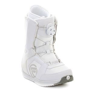 Snowboard Flow Vega Boa Womens Snowboard Boots - The Vega Boa Snowboard boots from Flow are the standard all-mountain boot, and is the everyday boot for the everyday rider looking to have a good time on the mountain in comfort and style. The micro-articulating instep flex zone eliminates pressure and wrinkling around the ankle and the Boa H2 Non-Coiler allows for a secure and comfortable fit. You will get all the support you need in your ankle and heel with the surlyn backstay and the custom flex zone adds to the fit and comfort of the Vega. Velcro positioning tabs keep your tongue in place which ensures more fit and comfort. The Vega is an all around comfortable snowboard boot. . Warranty: One Year, Skill Range: Beginner - Advanced Intermediate, Model Year: 2012, Product ID: 235589, Gender: Womens, Skill Level: Beginner, Brand Lacing Style: Boa H2 Non-Coiler, Intuition Liner: No, Removable Liner: Yes, Recommended Use: All-Mountain, Lacing Style: Boa, Material: Standard liner with internal support L Pads, Flex: Medium - $79.89