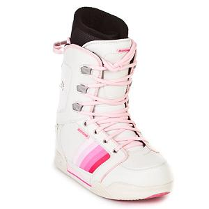 Snowboard CYCAB A50 Womens Snowboard Boots - The CYCAB A50 Womens snowboard boots are made specifically for women They are made up of a synthetic leather which makes the A50 a very tough and stylish pair of boots. The liners are shaped specifically to the contour of a women's foot which makes them extremely supportive and comfortable. Traditional lacing on these boots allow you to get an old school fit for maximum fit and comfort. . Material: Synthetic Leather, Lacing Style: Traditional Lace, Snowboard Best Use: All-Mountain, Removable Liner: Yes, Flex: Soft, Warranty: One Year, Intuition Liner: No, Brand Lacing Style: Traditional Lacing, Skill Range: Beginner - Intermediate, Model Year: 2007, Product ID: 265669, GTIN: 7611310506361, Model Number: A50W WHPK 5, Skill Level: Beginner, Gender: Womens - $29.91