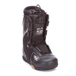 Snowboard Ride Sage Womens Snowboard Boots - Designed for the female rider looking to advance their skills the Ride Sage Snowboard Boots features a heat moldable Intuition liner that will give you maximum comfort, support and warmth while your feet are in them. You will be able to get in and out of these boots quick and easy with the Lock Down Speed Lacing system so that you can get out on the mountain and enjoy the Ride. . Material: Synthetic Upper with EVA Rubber Sole, Lacing Style: Quick Lace, Recommended Use: All-Mountain, Removable Liner: Yes, Flex: Medium, Warranty: One Year, Intuition Liner: Yes, Brand Lacing Style: Lock Down Speed Lace, Skill Range: Beginner - Advanced Intermediate, Model Year: 2008, Product ID: 265710, Shipping Restriction: This item is not available for shipment outside of the United States., Gender: Womens, Skill Level: Beginner - $49.90