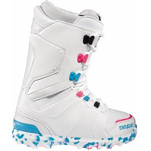 Snowboard ThirtyTwo Lashed W Womens Snowboard Boots - Lightweight without compromising support, the ThirtyTwo Womens Lashed is one of the most versatile boot in the line. The Independent Lacing Eyestays create optimal leverage as you tighten your laces, so the more you wear it, the better it wraps. ThirtyTwo also added a new bumper to the top of the toe box to offer protection from the everyday wear and tear of toe straps and edges. STI Evolution Foam provides better cushioning than traditional foam materials and dramatically reduces the weight of this boot. The Level 3 liner is heat moldable for a custom fit and dual density soft touch Ultralon foam gives you added comfort, warmth and support. Take a minute and look down at the feet of the local female ripper at your home mountain, chances are they're rocking the Womens Lashed. Year after year, this boot is the choice of most pros and resort employees. . Material: Level 3 Liner, Lacing Style: Traditional Lace, Snowboard Best Use: All-Mountain Freestyle, Removable Liner: Yes, Flex: Medium, Warranty: One Year, Intuition Liner: Yes, Brand Lacing Style: Traditional Lacing, Skill Range: Intermediate - Advanced, Model Year: 2012, Product ID: 296371, Shipping Restriction: This item is not available for shipment outside of the United States., Gender: , Skill Level: Intermediate, Model Number: 82050000915 - $79.92
