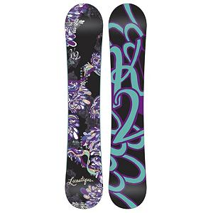 Snowboard K2 Lunatique Womens Snowboard - Clean style and goodtimes are plentiful with the K2 Lunatique Womens Snowboard. Desgined for the advancing woman rider that looks to experience it all. The All Terrain Rocker is ready to handle the mountain with confidence and ease. With solid edge control and easy going handling, the Lunatique is all style and smiles. This K2 Alliance collaboration creates effortless turns through all types of snow. Playful, light and always maneuverable, the K2 Lunatique will take you anywhere the snow flies. . Actual Turn Radius @ Specified Length: 7.6m (149cm), Base Name: 2000 Extruded, Core Name: Rhythm Core, Waist Width: 23.70in (149cm), Stance Width: 18-21in, Stance Setback: 0.75in, Special Features: Hybritech Construction, Bearing Grade: Performance, Rocker Profile: Rocker, Shape: Directional, Flex: Soft, Pipe Oriented: No, Board Width: Regular, Rocker Type: All Terrain Rocker, Core Material: Wood, Construction Type: Sidewall Construction, Hole Pattern: Standard 4 Hole, Magnatraction: No, Base Material: Extruded P-tex, Warranty: One Year, Skill Range: Intermediate - Advanced, Model Year: 2012, Product ID: 234838, Shipping Restriction: This item is not available for shipment outside of the United States., Gender: Womens, Skill Level: Intermediate, Model Number: B11023146, GTIN: 0714636818730, Special Features: Standard Damping, Recommended Use: All-Mountain - $179.94