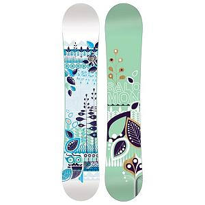 Snowboard Salomon Lotus Womens Snowboard - The Lotus snowboard from Salomon is first time user friendly. The catch-free ease of Flat profile makes the Lotus a confidence-boosting monster for learning the basics and sticking to your budget. The Lotus is easy turning and a smooth riding, easy to flex and super fun snowboard. The directional twin shape is for freestyle moves with a directional flex for power at high-speed. The binding stance is set back slightly from the center. Comes with a standard stone finish which is the industry benchmark for high-end boards, the only difference is the basic finish. The Lotus also is made with an Aspen wood core which makes for the foundation of a good board. . Actual Turn Radius @ Specified Length: 8.1mm (146cm), Base Name: Extruded, Core Name: Aspen, Stance Width: 541-611mm, Stance Setback: 10mm, Special Features: Flat Profile, Rocker Profile: Flat, Shape: Directional Twin, Flex: Soft, Rocker Type: Flat Profile, Core Material: Wood, Construction Type: Sidewall Construction, Hole Pattern: Standard 4 Hole, Magnatraction: No, Base Material: Extruded P-tex, Warranty: One Year, Skill Range: Beginner - Intermediate, Model Year: 2012, Product ID: 235614, Gender: Womens, Skill Level: Beginner, Board Width: Regular, Pipe Oriented: No, Special Features: Quadratic Sidecut, Recommended Use: All-Mountain, Waist Width: 240mm (146cm) - $189.99
