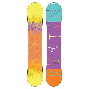 Snowboard Burton Feather Womens Snowboard 2013 - The Burton Feather is an every lady's snowboard that delivers the performance needed to master the entire mountain. The V-Rocker shape keeps things loose and playful for a catch-free ride. The softer flex is laid back from tip to tail and cruise control allows the Feather to beeline without biting back. Twin flex allows this directional board feel good no matter which way you point it. The extruded base is low maintenance and super easy to repair in case you get real rad. You're definitely going to be riding all day with the Burton Feather. Features: Womens Specific True Flex Fly Core. Actual Turn Radius @ Specified Length: 7.49m(153cm), Base Name: Extruded, Core Name: True Flex Fly Core, Stance Width: 505mm-530mm, Stance Setback: 1.5cm back, Special Features: Cruise Control, Flex: Soft, Rocker Type: V-Rocker, Core Material: Wood, Construction Type: Sidewall Construction, Hole Pattern: Burton 3D, Magnatraction: No, Base Material: Extruded P-tex, Warranty: One Year, Skill Range: Beginner - Advanced Intermediate, Model Year: 2013, Product ID: 271619, Shipping Restriction: This item is not available for shipment outside of the United States., Gender: Womens, Skill Level: Beginner, Board Width: Regular, Pipe Oriented: No, Shape: Directional, Rocker Profile: Rocker, Waist Width: 238mm (@149cm), Recommended Use: All-Mountain Freestyle - $199.97