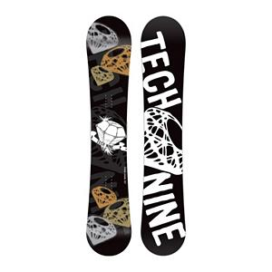 Snowboard Tech Nine Diamond Black Womens Snowboard - The Technine Diamond Black snowboard is an all-mountain directional freestyle that gives the up-and-coming rider the upper hand. A stable shape and soft flex gives you lightning edge-to-edge power for linking turns and the full wood core makes the Diamond lightweight and easy to ride. From a day of riding chairs with your friends to a mellow afternoon hike, the Diamond Black will shine in any situation. . Base Name: IS 1320, Core Name: Power Tech Core, Recommended Use: All-Mountain Freestyle, Waist Width: 237mm(141cm), Stance Width: 15-21in(141cm), Stance Setback: Centered, Rocker Profile: Camber, Shape: Directional Twin, Flex: Medium, Pipe Oriented: No, Board Width: Regular, Rocker Type: Traditional Camber, Core Material: Wood, Construction Type: Sidewall Construction, Hole Pattern: Standard 4 Hole, Magnatraction: No, Base Material: Extruded P-tex, Warranty: One Year, Skill Range: Beginner - Advanced Intermediate, Model Year: 2012, Product ID: 272216, Gender: Womens, Skill Level: Beginner - $149.94