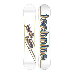 Snowboard Tech Nine T9 White Womens Snowboard - Following the pedigree of other Technine TransWorld good wood winners, the T9 White snowboard is built for fun and function. Stability and performance is the name of the game and the medium-to-soft flex offers the versatility needed to win it. The T9 White is buttery and playful but serious enough to take your riding to the next level. . Base Name: IS 1320, Core Name: Power Tech Core, Recommended Use: Freestyle, Waist Width: 246mm(147cm), Stance Width: 18.7-25in, Stance Setback: Centered, Special Features: Extruded IS 4400, Bearing Grade: High Performance, Rocker Profile: Camber, Shape: Twin, Flex: Medium, Pipe Oriented: No, Board Width: Regular, Rocker Type: Traditional Camber, Core Material: Wood, Construction Type: Sidewall Construction, Hole Pattern: Standard 4 Hole, Magnatraction: No, Base Material: Extruded P-tex, Warranty: One Year, Skill Range: Beginner - Advanced Intermediate, Model Year: 2012, Product ID: 272295, Gender: Womens, Skill Level: Beginner, Model Number: 115006147W, GTIN: 0883987591378 - $99.91