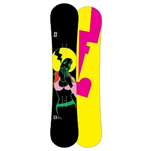 Snowboard Forum The Spinster Womens Snowboard - Not for the faint of heart the Forum The Spinster Snowboard is made with DoubleDog which gives you playful power as it features camber sections under each foot to give you the power, pop and edge grip needed to charge fast and go big. The twin shape of this board will allow you to ride switch for all sorts of snowboarding fun. The Gnar wood core makes the Spinster lightweight while still being highly responsive. The Biax fiberglass construction makes this board smooth, forgiving and most importantly fun to ride that combines with the FreeBase that will allow you to wax easy speed. Topping off the Spinster from Forum is the Swingers Club where Forum shaved the tip and the tail of the wood core so that the board would be lightweight but still remain highly durable which will make this board spin faster and float with less effort. All in all the Spinster from Forum will allow you to have fun shredding the mountain all day. Please Note that the Base comes in assorted colors. . Actual Turn Radius @ Specified Length: 7.4m (@148cm), Base Name: FreeBase, Core Name: Gnar, Recommended Use: Freestyle, Waist Width: 244mm (@148cm), Stance Width: 19-20in, Stance Setback: Centered, Special Features: Swingers Club, Rocker Profile: Rocker with Camber, Shape: Twin, Flex: Soft, Pipe Oriented: Yes, Board Width: Regular, Rocker Type: DoubleDog, Core Material: Wood, Construction Type: Sidewall Construction, Hole Pattern: Standard 4 Hole, Magnatraction: No, Base Material: Sintered P-tex, Warranty: One Year, Skill Range: Advanced Intermediate - Expert, Model Year: 2011, Product ID: 278902, Gender: Womens, Skill Level: Advanced Intermediate - $199.94