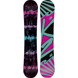 Snowboard K2 Sky Lite Womens Snowboard - The all-new K2 Sky Lite is designed for women who want to spend their time exploring and progressing on all types of terrain. Whether you ride park or all-mountain, beginner, or advanced the Sky Lite has you covered for any situation. Hypritech construction provides women with a low swing-weight, optimized turn initiation, and overall durability. Flatline baseline offers women supreme balance, smooth rides and preloaded pop. K2 Alliance approved the Sky Lite is the perfect snowboard that is capable of doing everything, except fly in the sky. . Actual Turn Radius @ Specified Length: 7.8m (@143cm), Base Name: 2000 Extruded, Core Name: W1 Core, Recommended Use: All-Mountain Freestyle, Waist Width: 238mm (@143cm), Stance Width: 18-21mm, Stance Setback: Centered, Special Features: Standard Damping, Rocker Profile: Flat, Shape: Directional Twin, Flex: Medium, Pipe Oriented: No, Board Width: Regular, Rocker Type: Flatline, Core Material: Wood, Construction Type: Sidewall Construction, Hole Pattern: Standard 4 Hole, Magnatraction: No, Base Material: Extruded P-tex, Warranty: One Year, Skill Range: Beginner - Advanced Intermediate, Model Year: 2013, Product ID: 281702, Shipping Restriction: This item is not available for shipment outside of the United States., Gender: Womens, Skill Level: Beginner - $239.89