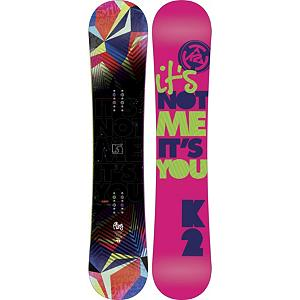 Snowboard K2 Fling Womens Snowboard - The K2 Fling is the board of choice for the women rider that goes everywhere on the mountain but does it with a freestyle flare. The Fling starts with its foundation the Rhythm core which is women specific. Combined with K2 Flatline technology which allows the Fling to be stable, catch free and preloaded with tons of pop. To add to the pop Carbon Web is inserted underneath the bindings to create a even more poppy womens snowboard capable of dominating anything on the mountain. The K2 Fling is designed for women who ride freestyle with some flare. . Actual Turn Radius @ Specified Length: 7.3m(142cm), Base Name: Sintered 4000, Core Name: Rhythm Core, Recommended Use: All-Mountain Freestyle, Waist Width: 236mm, Stance Width: 19in, Stance Setback: Centered, Special Features: Carbon Web, Rocker Profile: Flat, Shape: Twin, Flex: Medium, Pipe Oriented: No, Board Width: Regular, Rocker Type: Flatline, Core Material: Wood, Construction Type: Sidewall Construction, Hole Pattern: Standard 4 Hole, Magnatraction: No, Base Material: Sintered P-tex, Warranty: One Year, Skill Range: Intermediate - Advanced, Model Year: 2012, Product ID: 285163, Shipping Restriction: This item is not available for shipment outside of the United States., Gender: Womens, Skill Level: Intermediate - $199.94