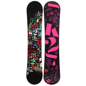 Snowboard K2 Siren Womens Snowboard - The K2 Siren Snowboard is new on the market and extremely popular! An all mountain snowboard designed specifically for women with K2 Catch-Free Rocker women now can travel anywhere on the mountain and feel comfortable and stable, it has a specific construction that responds very well to the rider. It offers low maintenance and you can only expect the best performance with this snowboard. The K2 Siren is loud and noisy but in the best way possible. . Actual Turn Radius @ Specified Length: 7.3m(142cm), Base Name: 2000 Extruded, Core Name: W1, Recommended Use: All-Mountain Freestyle, Waist Width: 234mm(142cm), Stance Width: 18-20in, Stance Setback: .75 Back, Special Features: Dual Progressive Sidecut, Rocker Profile: Rocker, Shape: Directional Twin, Flex: Soft, Pipe Oriented: No, Board Width: Regular, Rocker Type: Catch-Free Rocker, Core Material: Wood, Construction Type: Sidewall Construction, Hole Pattern: Standard 4 Hole, Magnatraction: No, Base Material: Extruded P-tex, Warranty: One Year, Skill Range: Beginner - Advanced Intermediate, Model Year: 2012, Product ID: 285176, Shipping Restriction: This item is not available for shipment outside of the United States., Gender: Womens, Skill Level: Beginner - $199.95