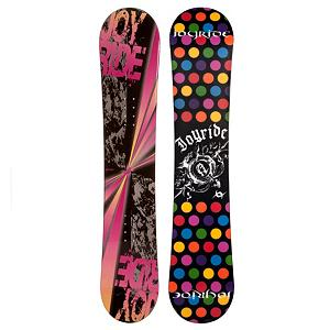 Snowboard The JoyRide Burst Pink Snowboard is an entry-level board that offers plenty of pop and a strong edge hold so you can get the basics of snowboarding down and grow confidently into the next skill level.  Its Camber profile is more controlled than a rocker so you'll be able to increase you skills while also enjoying the day on the mountain.  Those winter days when the snow is falling shouldn't be spent indoors.  Get on a JoyRide Burst Pink Snowboard and start the winter with some shredding.  Base Graphics Are Assorted,  Model Number: 546 SB 12, Skill Level: Beginner, Gender: Womens, Product ID: 297030, Skill Range: Beginner - Intermediate, Warranty: One Year, Base Material: Extruded P-tex, Magnatraction: No, Hole Pattern: Standard 4 Hole, Construction Type: Cap Construction, Core Material: Wood, Board Width: Regular, Pipe Oriented: No, Flex: Soft, Shape: Directional, Rocker Profile: Camber, Snowboard Best Use: All-Mountain - $149.99