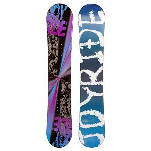 Snowboard The JoyRide Burst Purple Snowboard is an entry-level board with a camber profile so you can get a strong edge hold to help get the basics of snowboarding down and grow confidently into the next skill level while increasing your carving skills.  Its more controlled design also has some pop to it so you can practice some new tricks on the mountain. Those winter days when the snow is falling shouldn't be spent indoors.  Get on a JoyRide Burst Purple Snowboard and start the winter with some shredding.  Base Graphics Are Assorted,  Model Number: 45 SB 12, Skill Level: Beginner, Gender: Womens, Product ID: 297033, Skill Range: Beginner - Intermediate, Warranty: One Year, Base Material: Extruded P-tex, Magnatraction: No, Hole Pattern: Standard 4 Hole, Construction Type: Cap Construction, Core Material: Wood, Board Width: Regular, Pipe Oriented: No, Flex: Soft, Shape: Directional, Rocker Profile: Camber, Snowboard Best Use: All-Mountain - $129.77