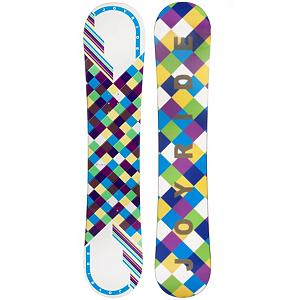 Snowboard If you're an entry-level snowboarder looking for your first board than check out the JoyRide Checkers White Blue Snowboard. It's perfect for the new rider ready to tackle their first board and its camber profile ensures you can have a little more control and edge hold so you can get used to the turns you need to make when traversing the mountain.  It also has a little pop so feel free to test out some tricks that you've been meaning to try.  A great entry-level board to help increase your confidence and skill level, the JoyRide Checkers White Blue Snowboard is a cute and fun option when you want a board to call your own as oppose to renting.  Base Graphics Are Assorted,  Snowboard Best Use: All-Mountain, Rocker Profile: Camber, Shape: Directional, Flex: Soft, Pipe Oriented: No, Board Width: Regular, Core Material: Wood, Construction Type: Cap Construction, Hole Pattern: Standard 4 Hole, Magnatraction: No, Base Material: Extruded P-tex, Warranty: One Year, Skill Range: Beginner - Intermediate, Product ID: 297057, Gender: Womens, Skill Level: Beginner, Model Number: 547 SB 12 - $149.99
