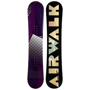 Snowboard Airwalk Dots Purple Womens Snowboard - The Airwalk Dots Purple is the perfect snowboard for any inspiring women rider looking to get their feet wet on the mountain. Designed for beginners the Dots Purple is constructed with a cap, sandwich like construction making the board lightweight and easy to turn. A Camber profile gives the riders more control, easier to make toe-side and heel-side turns which are the basics of snowboarding. Camber provides amazing edge hold on icy and all weather conditions. For freestyle riders Camber allows for an increase in the snowboards ability to ollie. The Airwalk Dots Purple is a great snowboarding for the rider looking to progress there ability to snowboard. . Skill Range: Beginner - Advanced Intermediate, Product ID: 297123, Gender: Womens, Skill Level: Beginner, Model Number: 478 SB 12, Warranty: One Year, Base Material: Extruded P-tex, Magnatraction: No, Hole Pattern: Standard 4 Hole, Construction Type: Cap Contruction, Core Material: Wood, Board Width: Regular, Pipe Oriented: No, Flex: Medium, Shape: Directional Twin, Rocker Profile: Camber, Snowboard Best Use: All-Mountain Freestyle - $129.92