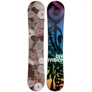 Snowboard Division Six Sports Flower Womens Snowboard - The Division Six Sports Flower Snowboard is a cute and quality entry-level board for the rider who is ready to progress to higher skill levels. This progression board has a camber profile allowing for plenty of edge hold on those turns and a little pop for the jumps you want to try out. It's a responsive board so you can initiate turns and build your confidence to push your limits. Its soft flex and forgiving wood core will give you plenty of wiggle room to work through the basics. Tons of value and quality, forget throwing your time and money at the rental boards, and get a hold of one of these Division Six Sports Flower Snowboards. . Recommended Use: All-Mountain, Rocker Profile: Camber, Shape: Directional, Flex: Soft, Pipe Oriented: No, Core Material: Wood, Construction Type: Cap Construction, Hole Pattern: Standard 4 Hole, Magnatraction: No, Base Material: Extruded P-tex, Warranty: One Year, Skill Range: Beginner - Advanced Intermediate, Product ID: 297151, Gender: Womens, Skill Level: Beginner - $149.99