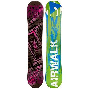 Snowboard Airwalk Kona Pink Rocker Womens Snowboard - The Airwalk Kona Pink Rocker is snowboard is perfect for any snowboarder looking to step out of rental equipment and into something of their own. The Kona Pink Rocker is going to suit any riding style with its reverse camber shape and cap construction. Cap or sandwich construction makes the board lightweight and easy to turn. Rocker is the perfect snowboard profile for any beginner. With its pre-flexed shaped riders are already given an advantage. For freestyle riders rocker allows for easy turning and effortless float in deeper snow conditions. The Airwalk Kona Pink Rocker is going to make riding easier, allowing for you to have more fun on the slope. . Construction Type: Cap Construction, Base Material: Extruded P-tex, Warranty: One Year, Skill Range: Beginner - Advanced Intermediate, Product ID: 297188, Gender: Womens, Skill Level: Beginner, Magnatraction: No, Hole Pattern: Standard 4 Hole, Core Material: Wood, Board Width: Regular, Pipe Oriented: No, Flex: Medium, Shape: Directional Twin, Rocker Profile: Rocker, Recommended Use: All-Mountain Freestyle - $179.99
