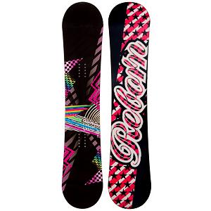 Snowboard SLQ Reborn Black Hybrid Womens Snowboard - With the SLQ Reborn Hybrid Snowboard you'll have the best of both worlds for your snowboard profile and start off your career on an entry-level board that will help you progress. Designed with a hybrid rocker, you'll have a very forgiving board to help keep you upwards and mobile instead of plummeting into the snow every three seconds. It's a great way to hone your skills and practice your turns. This responsive board also boasts a solid edge hold while you're floating above the powder. If you want a cool board to get you going and one that will help progress your skills then the SLQ Reborn Hybrid Snowboard is the one for you. Forget waiting in the rental lines! Grab a hold of a board you can call your own! . Recommended Use: All-Mountain, Rocker Profile: Rocker, Shape: Directional, Flex: Soft, Pipe Oriented: No, Board Width: Regular, Core Material: Wood, Construction Type: Sidewall Construction, Hole Pattern: Standard 4 Hole, Magnatraction: No, Base Material: Extruded P-tex, Warranty: One Year, Skill Range: Beginner - Advanced Intermediate, Product ID: 297335, Gender: Womens, Skill Level: Beginner, Model Number: 581 SB 12 - $149.88