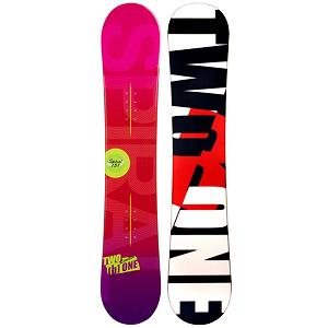 Snowboard 2B1 Spiral Red Rocker Womens Snowboard - The 2B1 Spiral Red Rocker Snowboard is a great beginner board so you can start off your snowboarding career right. This entry-level board will allow you pick up the skills necessary to become a great shredder through a variety of terrains. But before you slay the rails in the park or carve your signature into the snow, you have to get the basics down. The Spiral will help build you confidence so you can progress with ease. The rocker profile makes this board very forgiving so you can learning how to carve and turn without constantly eating snow. The profile of the board also makes it easier to learn how to snowboard in the powder. Stop wasting the money to rent and get a board that you can call your own. Save some cash and get a good jump on snowboarding with the 2B1 Spiral Red Rocker Snowboard. . Rocker Profile: Camber, Shape: Directional, Flex: Soft, Pipe Oriented: No, Board Width: Regular, Core Material: Wood, Construction Type: Cap Construction, Hole Pattern: Standard 4 Hole, Magnatraction: No, Base Material: Extruded P-tex, Warranty: One Year, Skill Range: Beginner - Advanced Intermediate, Product ID: 297386, Gender: Womens, Skill Level: Beginner, Recommended Use: All-Mountain - $149.99