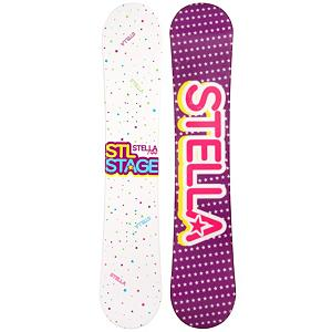 Snowboard STEL Stage White Womens Snowboard - The STEL Stage White Womens Snowboard is a great beginner board so you can start off your snowboarding career right. This entry-level board will allow you pick up the skills necessary to become a great shredder through a variety of terrains. But before you slay the rails in the park or carve your signature into the snow, you have to get the basics down. The Stage White will help build you confidence so you can progress with ease. The camber profile is responsive and ensures a great edge hold when learning how to carve. There's some pop in this board so you can begin to work on your jumps. Stop wasting the money to rent and get a board that you can call your own. Save some cash and get a good jump on snowboarding with the STEL Stage White Womens Snowboard. . Recommended Use: All-Mountain, Rocker Profile: Camber, Shape: Directional, Flex: Soft, Pipe Oriented: No, Core Material: Wood, Construction Type: Cap Construction, Hole Pattern: Standard 4 Hole, Magnatraction: No, Base Material: Extruded P-tex, Warranty: One Year, Skill Range: Beginner - Advanced Intermediate, Product ID: 297398, Gender: Womens, Skill Level: Beginner - $99.99
