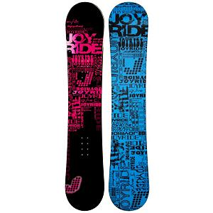 Snowboard The JoyRide Text Pink Snowboard is a great entry-level board to help you perfect the basics so you can begin your ascent to the higher parts of the mountain.  With your very own ride, your skills will increase each time you set foot in the snow because you'll know how your board operates. Plus you can avoid the rental lines and additional costs. So, why waste the time and the money when you can have one to call your own.  It has a great edge hold making those turns a little easier to master.  It boasts a camber profile which is poppy and responsive so you can work on some of the tricks and jumps you've been eyeing in the park. Soft and forgiving, the JoyRide Text Pink Snowboard is fun for any beginner trying to get the skills and confidence to graduate from the easy greens to the challenging black diamonds.  Model Number: 506 SB 12, Skill Level: Beginner, Gender: Womens, Product ID: 297431, Skill Range: Beginner - Advanced Intermediate, Warranty: One Year, Base Material: Extruded P-tex, Magnatraction: No, Hole Pattern: Standard 4 Hole, Construction Type: Cap Construction, Core Material: Wood, Board Width: Regular, Pipe Oriented: No, Flex: Soft, Shape: Directional, Rocker Profile: Camber, Snowboard Best Use: All-Mountain - $129.91