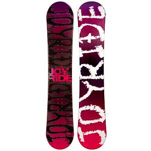 Snowboard JoyRide Writing Pink Rocker Womens Snowboard - The JoyRide Writing Pink Rocker Womens Snowboard is a cool entry-level board for the young riders just starting out and wanting to get a good hold on the art of snowboarding. It boasts some great features to help them learn the basics so that they can soon join you and head to higher terrain and tougher territory. This board is made with a rocker profile which is easy to learn on and very forgiving. There are some good benefits to owning a board as opposed to renting especially when trying to increase your skill level. Just having a board you're used to and calling your own is a great benefit. But also, you save time and money. Lift tickets aren't cheap so why spend part of the day waiting to get fitted for a board? Also, with this piece of machinery, you can have a steady and reliable board that they can learn on instead of switching it up every time everyone hit the mountain. Give your child the gift of snowboarding with the JoyRide Writing Pink Rocker Womens Snowboard and help them see how absolutely amazing a day on the snow covered mountains can be. . Recommended Use: All-Mountain, Rocker Profile: Rocker, Shape: Directional, Flex: Soft, Pipe Oriented: No, Board Width: Regular, Core Material: Wood, Construction Type: Cap Construction, Hole Pattern: Standard 4 Hole, Magnatraction: No, Base Material: Extruded P-tex, Warranty: One Year, Skill Range: Beginner - Advanced Intermediate, Product ID: 297480, Gender: Womens, Skill Level: Beginner, Model Number: 291 SB 12 - $149.91