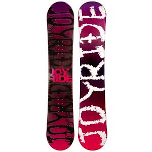 Snowboard JoyRide Writing Pink Womens Snowboard - The JoyRide Writing Pink Womens Snowboard is a cool entry-level board for those just starting out and wanting to get a good hold on the art of snowboarding. It boasts some great features to help you learn the basics so that you can soon test out your new found abilities on a little more challenging terrain. You'll have a camber profile which is perfect for nailing down the turns. You'll have a solid edge hold and great response with this Writing Pink Snowboard. There's a little bit of pop too to increase the playfulness so you can begin working on some small jumps. There are some good benefits to owning a board as opposed to renting especially when trying to increase your skill level. Just having a board you're used to and calling your own is a great benefit. But also, you save time and money. Lift tickets aren't cheap so why spend part of the day waiting to get fitted for a board? With the JoyRide Writing Pink Womens Snowboard you can expect a quality board with a lot of value and fun so your mountain experience can be great. . Skill Range: Beginner - Advanced Intermediate, Product ID: 297486, Gender: Womens, Skill Level: Beginner, Model Number: 85 SB 12, Warranty: One Year, Base Material: Extruded P-tex, Magnatraction: No, Hole Pattern: Standard 4 Hole, Construction Type: Cap Construction, Core Material: Wood, Board Width: Regular, Pipe Oriented: No, Flex: Very Soft, Shape: Directional, Rocker Profile: Camber, Snowboard Best Use: All-Mountain - $79.93