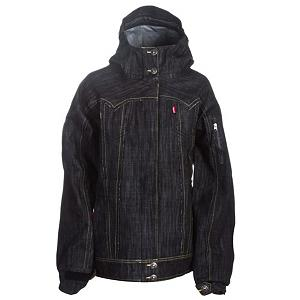 Snowboard 686 TMS Levi's 3-Ply Process Womens Shell Snowboard Jacket - The 686 Times Levi's 3-Ply Process Womens Jacket is an American legend. The 686 Snowboarding Line and Levi's have paired up taking denim to the next level. In order to create the 3-Ply Process Jacket, 686 teamed up with Levi's the true American Apparel Brand. Combining the best of both worlds, the Levi's 3-Ply Process Jacket takes the look of denim and amps it up with all of the technical features 686 outerwear has to offer. The 3-Ply Process Jacket is made of INFIDRY-20 - a microporous coating that allows moisture from your body's perspiration to exit while preventing outside moisture to enter. The fabric goes through a three-step waterproofing process to ensure its quality. It looks just like the Levi Denim fabric you know and trust, but is waterproof, breathable and extremely durable. Its Recco detector allows for fast searching in large and dangerous areas for any lost person. Classic styling of a 3-Ply cotton denim fabrication, contrast stitching accents, shank buttons and metal rivets provide the most stylish and functional denim inspired design to hit snowboarding in years. Features: 2 way front Vislon zipper is waterproof, Articulated elbow. Breathability: Moderate Breathability (10,001 - 15,000g), Cuff Type: Velcro, Wrist Gaiter: No, Waterproof Zippers: No, Cinch Cord Bottom: No, Insulator: No, Waterproof: High Waterproofing (15,001 - 20,000mm), Insulation Type: None (Shell), Length: Medium, Jacket Fit: Regular, Type: Shell, Rain Jacket: No, Race: No, Battery Heated: No, Use: Snowboard, Warranty: One Year, Hood: Yes, Powder Skirt: Yes, Goggle/Sunglasses Pocket: Yes, Electronics Pocket: Yes, Pockets: 4-6, Pit Zip Venting: Yes, Hood Type: Fixed, Breathability Rating: 15,000g, Waterproof Rating: 20,000mm, Taped Seams: Fully Taped, Insulation Weight: 0, Softshell: No, Lining: Yes, Exterior Material: Cotton Twill, Model Year: 2011, Product ID: 225608, Model Number: KCR301 0050 S, GTIN: 0883510096455 - $59.95