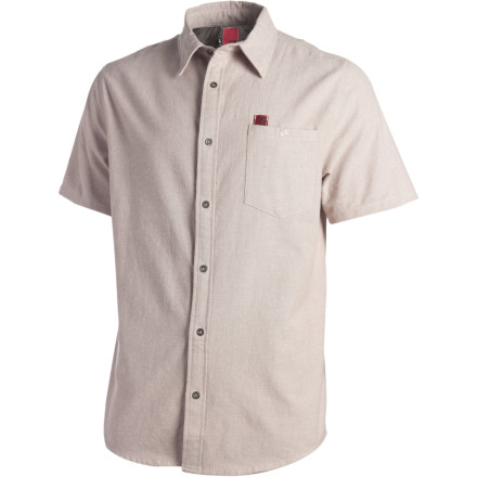 Entertainment The short-sleeve button-down &Work Strife Shirt can easily keep up with you while working in the shop, but you know it's sturdy when it's still in one piece after a wild weekend of pyro bowling and knife throwing. - $28.57