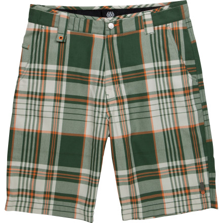 The 686 Prospect Short's super-snazzy plaid pattern may be your best chance at breaking out of your six-month-long slump. Just try to avoid saying anything too stupid until she's noticed how well-dressed you are. - $29.98