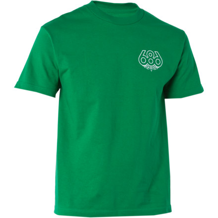 The Outlined T-Shirt hooks up classic 686 logo style in a grip of fresh solid colors. Sometimes less is more. - $11.97