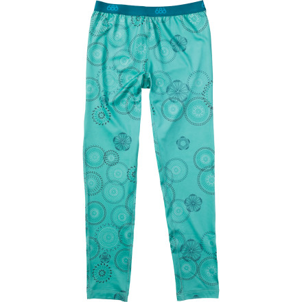 Entertainment The 686 Girls' Rings Base Layer Bottom works behind the scenes to keep your young skier dry, fight odor, and even block harmful UV rays. - $28.80