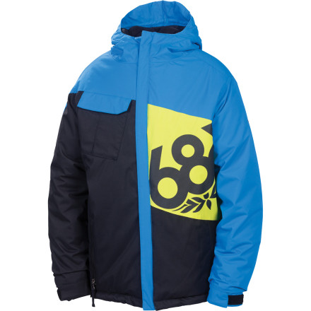 Snowboard The 686 Mannual Iconic Insulated Jacket hooks up plenty of cozy insulating power, thanks to strategically placed heavyweight polyfill insulation designed to maximize warmth without restricting movement. Frugal parents will appreciate the room-to-grow Youth Evolution system that adds a few inches of length once the inevitable growth spurt happens. - $49.00
