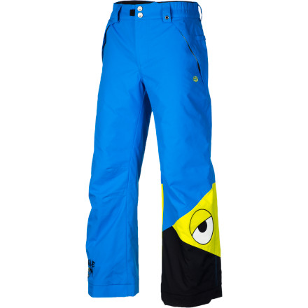 Snowboard The 686 Snaggleface Insulated Pant not only keeps your kid warm, dry, and stoked, it also features Snaggletooth's menacing mug to scare off any small woodland creatures attempting to get their paws on the granola bars stashed in his pocket. - $49.00