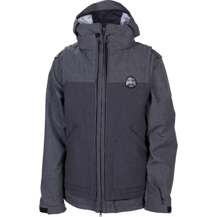 Snowboard The three-in-one 686 Smarty Satellite Insulated Jacket includes a removable quilted insulted vest you can rock with your favorite flannel during park laps, or together with the separate poly shell for tons of cold-weather insulating power. - $140.00
