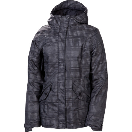 Snowboard Your riding already sets you apart, now really stand out from the crowd with the 686 Luster Women's Insulated Jacket. The heather plaid fabric turns heads and is 10K-rated to keep you dry in stormy conditions. 100g synthetic insulation keeps you warm when temperatures dip so you can keep shredding hard despite conditions. - $80.00