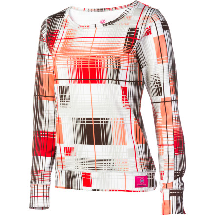 The 686 Women's Plaid Base Layer Top and its TopTech material are more than ready for you to bring the heat. - $18.00