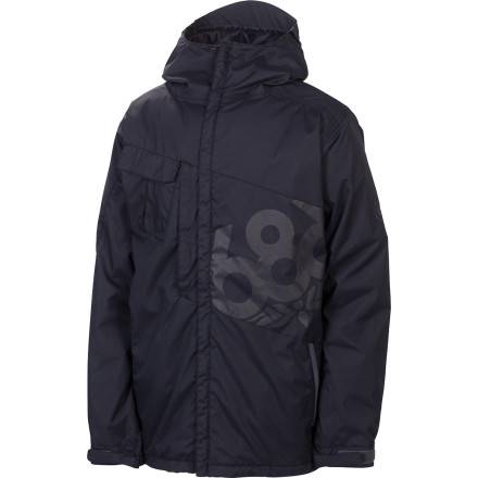 Snowboard You'd be hard-pressed  to find a warmer jacket for less money than the 686 Mannual Iconic Insulated Jacket. Big on function and not on frills, the Iconic keeps you warm and dry with an Infidry-8 membrane and strategic, low-bulk polyfill insulation. - $112.00