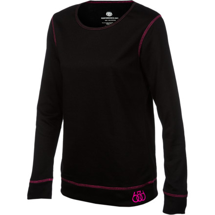 Camp and Hike Don't ride around in a sweat marinade. The 686 Women's Therma Baselayer Top wicks away moisture and breathes to keep you comfortable while you hike for secret stashes or burn lactic acid on a long traverse. - $32.00