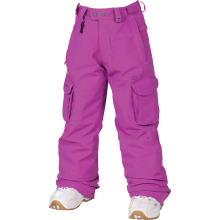 Snowboard There's no need to worry about buying multiple pairs of pants for your daughter for different conditions only to have her outgrow them halfway through the season with the 686 Mandy Girls' Insulated Pant. The removable Smarty liner gives the Mandy all-season versatility and the Youth Evolution pant leg extends so she can wear it for more than a season. - $56.00
