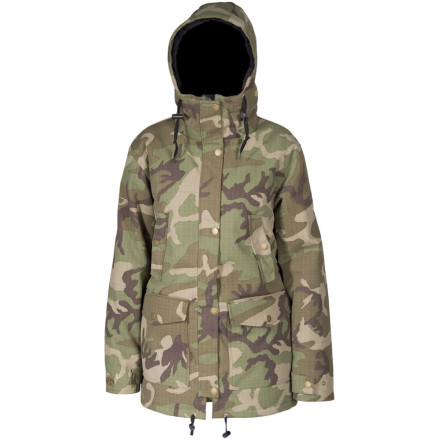 Snowboard With performance features you demand for riding like 10K waterproofing and 100-gram insulation, the Airblaster Women's Nicolette Jacket enables fun in foul-weather while its classic parka styling makes it worthy wear when you're out in search of aprs-antics. - $143.97