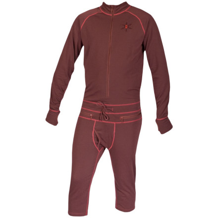 The Airblaster Hoodless Ninja Suit delivers all of the same great function as the regular version, but with shorter legs and no hood for warmer spring weather (or riders who just prefer a more low-profile first layer). Four-way stretch wicking fabric allows for ultimate freedom of movement, while the circumferential waist zip lets you take care of business without getting mostly nude in the resort restroom. - $49.98
