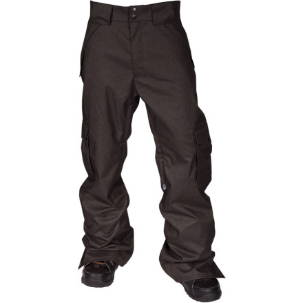 Snowboard The Freedom Cargo Pant features Airblaster's roomiest fit, but don't get it twistedthey still fit more like your favorite straight-leg jeans than your standard baggy pair of shred pants. 10K-rated waterproof/breathable fabric and critically taped seams keep you from getting soaked when the storms roll in. - $76.48