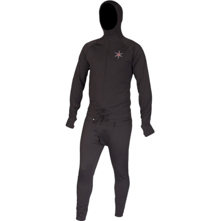 The Airblaster Expedition Weight Ninja Suit is quite possibly the warmest long underwear in existence anywhere on this planet. Maybe even other planets, too. Four-way-stretch microfleece and the seven-panel hood seal in warmth and make you all but impenetrable to the elements without restricting your mobility. - $79.98